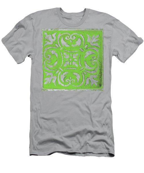 Bright Green Mosaic Men's T-Shirt (Athletic Fit)