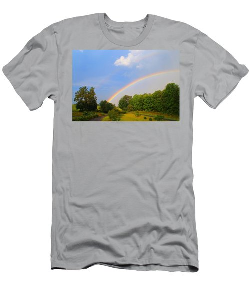 Men's T-Shirt (Slim Fit) featuring the photograph Bright Rainbow by Kathryn Meyer