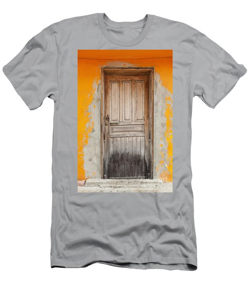 Brightly Colored Door And Wall Men's T-Shirt (Athletic Fit)