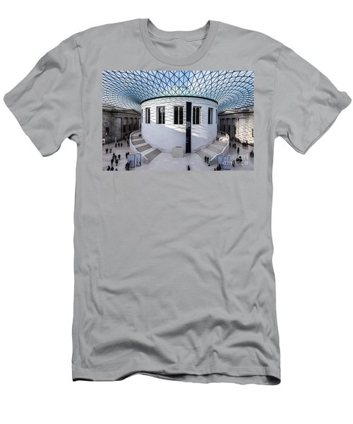 Men's T-Shirt (Slim Fit) featuring the photograph British Museum Color by Matt Malloy