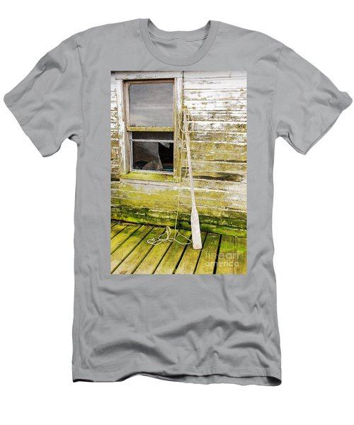 Men's T-Shirt (Slim Fit) featuring the photograph Broken Window by Mary Carol Story