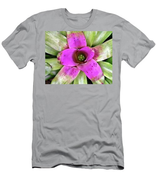 Men's T-Shirt (Slim Fit) featuring the photograph Bromeliad by Allen Beatty