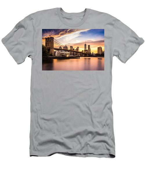 Brooklyn Bridge At Sunset  Men's T-Shirt (Athletic Fit)