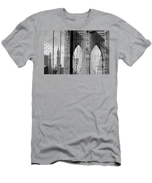 Brooklyn Bridge New York City Usa Men's T-Shirt (Athletic Fit)
