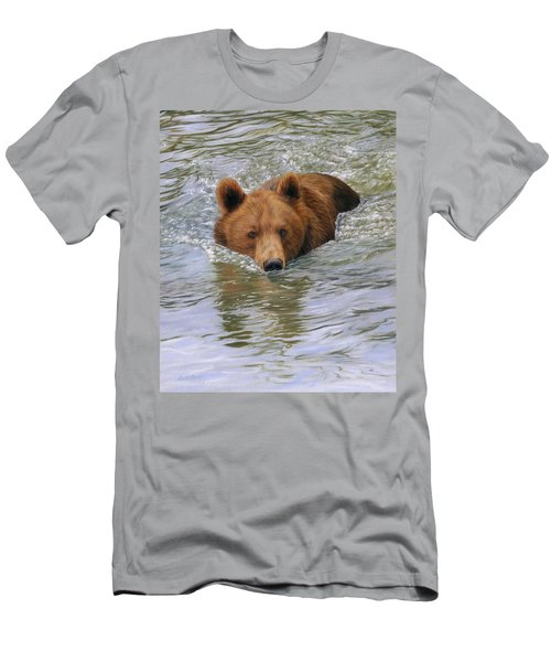 Brown Bear Men's T-Shirt (Athletic Fit)