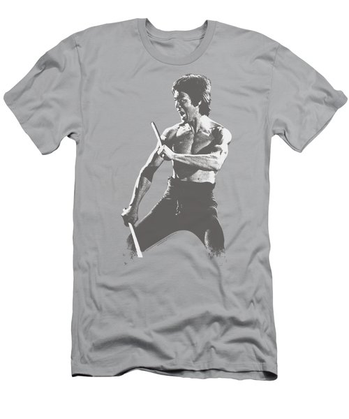 Bruce Lee - Chinese Characters Men's T-Shirt (Slim Fit) by Brand A