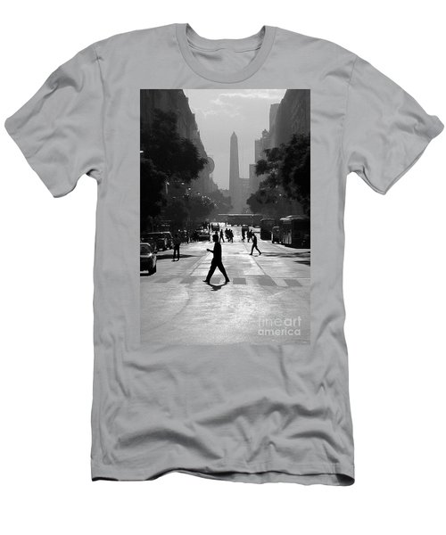 Men's T-Shirt (Slim Fit) featuring the photograph Buenos Aires Obelisk II by Bernardo Galmarini