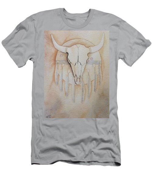 Buffalo Shield Men's T-Shirt (Slim Fit) by Richard Faulkner