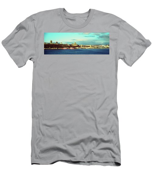 Buildings At The Waterfront, Quebec Men's T-Shirt (Athletic Fit)