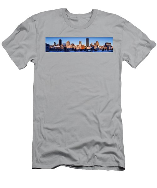 Buildings In Winter, Montreal, Quebec Men's T-Shirt (Athletic Fit)