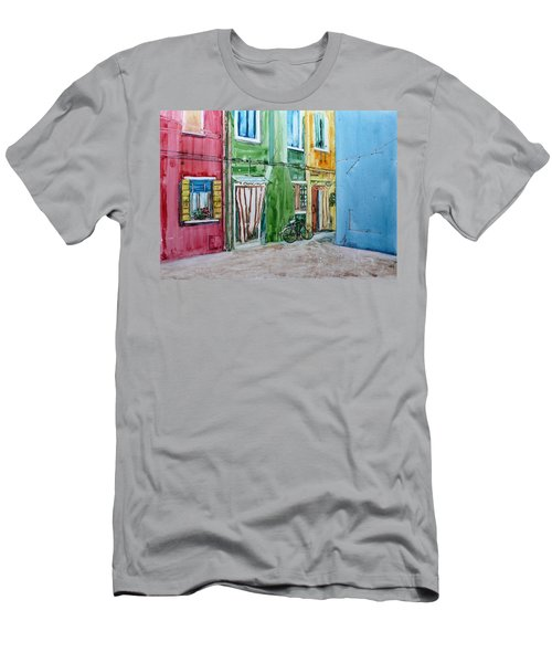 Burano Men's T-Shirt (Slim Fit) by Anna Ruzsan