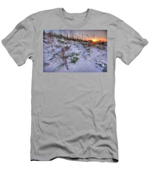 Men's T-Shirt (Slim Fit) featuring the digital art Buried Fences by Michael Thomas