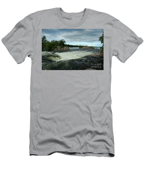 Men's T-Shirt (Slim Fit) featuring the photograph Burleigh Falls by Barbara McMahon