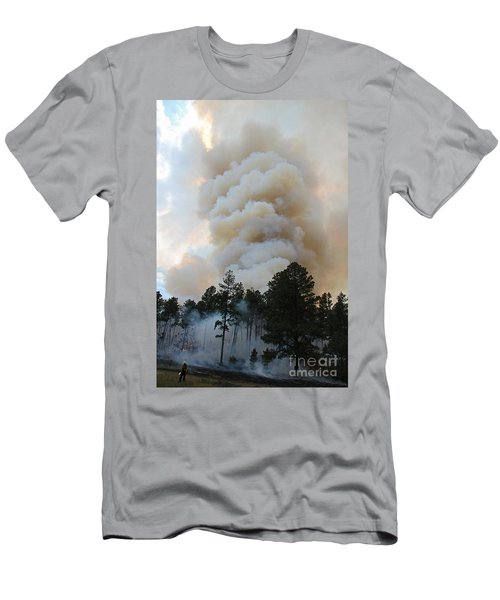 Men's T-Shirt (Slim Fit) featuring the photograph Burnout Near Song Dog Road by Bill Gabbert