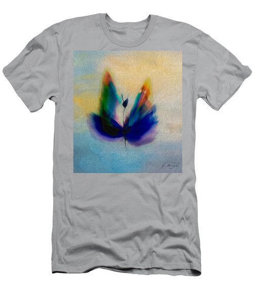 Men's T-Shirt (Slim Fit) featuring the digital art Butterfly In Color by Frank Bright