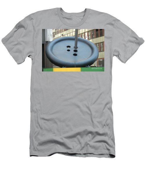 Men's T-Shirt (Slim Fit) featuring the photograph Button Button by Luther Fine Art