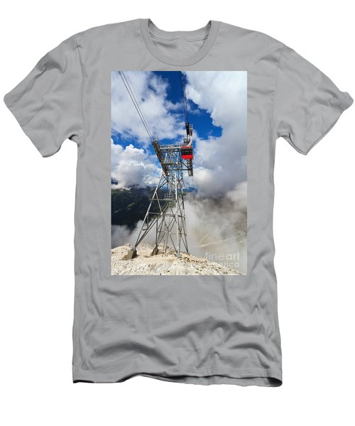 cableway in Italian Dolomites Men's T-Shirt (Athletic Fit)