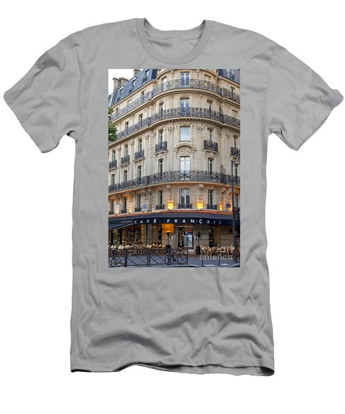 Men's T-Shirt (Athletic Fit) featuring the photograph Cafe Francais by Brian Jannsen