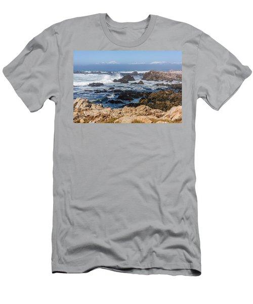 Men's T-Shirt (Athletic Fit) featuring the photograph Californian Coastline by Susan Leonard