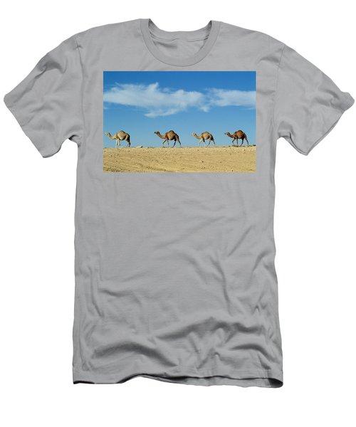 Camel Train Men's T-Shirt (Slim Fit)