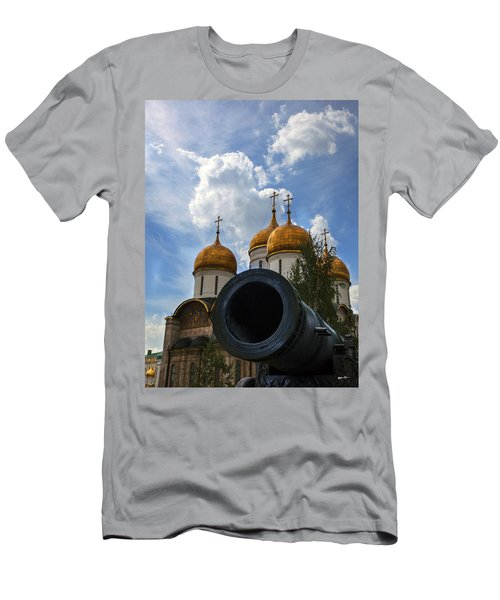 Cannon And Cathedral  - Russia Men's T-Shirt (Slim Fit) by Madeline Ellis