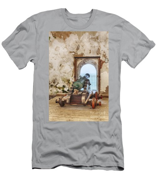Men's T-Shirt (Athletic Fit) featuring the photograph Cannon At Fort San Felipe Del Morro by Bryan Mullennix