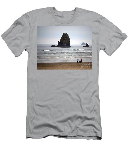 Cannon Beach Run Men's T-Shirt (Athletic Fit)