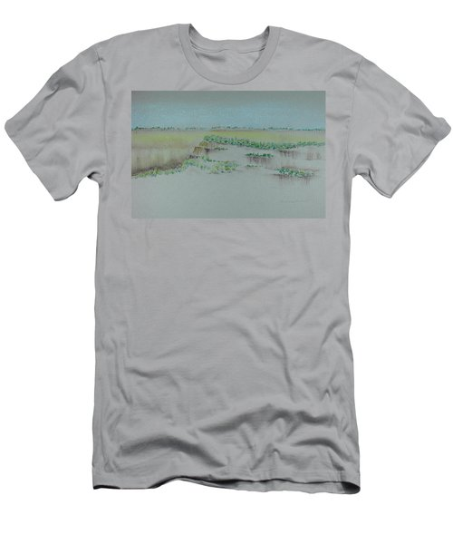 Men's T-Shirt (Slim Fit) featuring the pastel Canyon View by Michele Myers