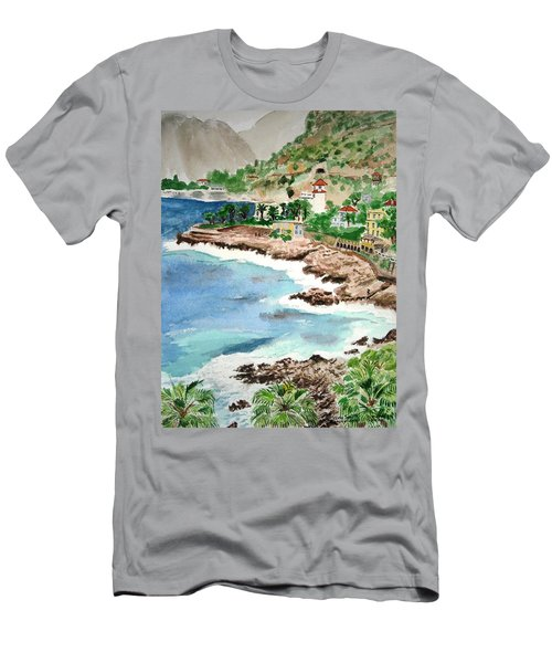 Cap D'ail On A Rainy Day Men's T-Shirt (Athletic Fit)