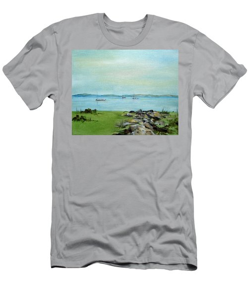 Cape Cod  Boats Men's T-Shirt (Slim Fit) by Judith Rhue