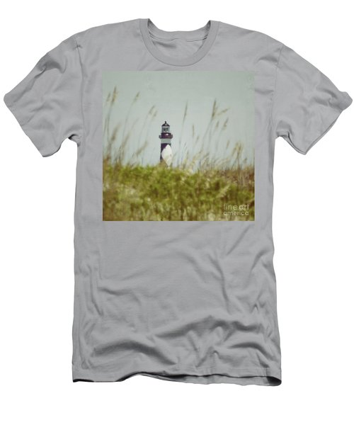 Cape Lookout Lighthouse - Vintage Men's T-Shirt (Athletic Fit)