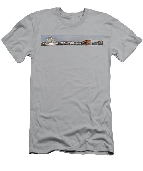 Cardiff Bay Panorama 2 Men's T-Shirt (Slim Fit)