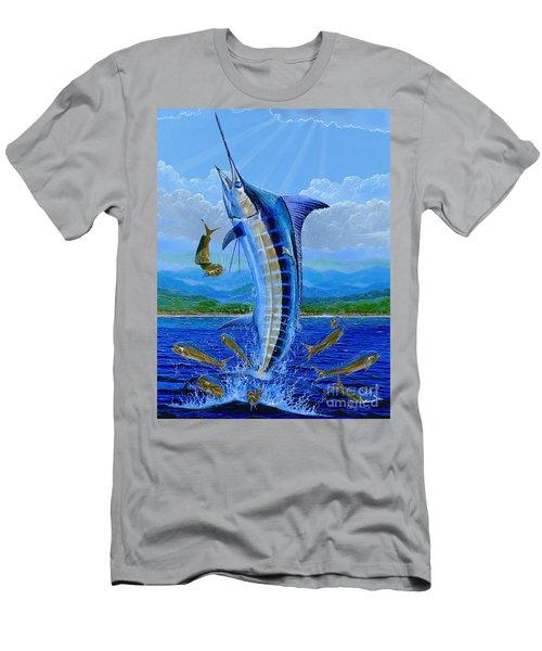 Caribbean Blue Off0041 Men's T-Shirt (Athletic Fit)