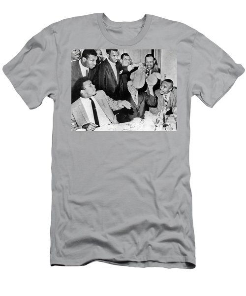 Cassius Clay Face Sonny  Liston Men's T-Shirt (Athletic Fit)