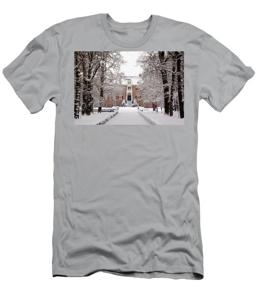 Castle In Winter Dress  Men's T-Shirt (Athletic Fit)