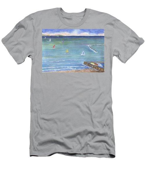 Catalina To Redondo Men's T-Shirt (Slim Fit) by Jamie Frier