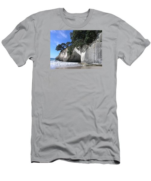 Cathedral Cove Men's T-Shirt (Slim Fit) by Christian Zesewitz