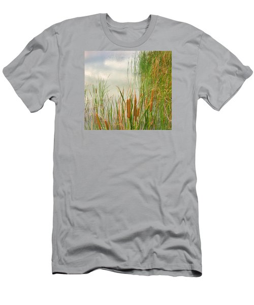 Men's T-Shirt (Slim Fit) featuring the photograph Cattails by Marilyn Diaz