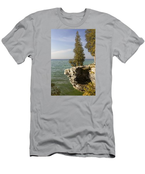 Cave Point - Signed Men's T-Shirt (Slim Fit) by Barbara Smith