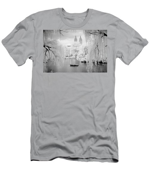 Central Park Lake-infrared Willows Men's T-Shirt (Athletic Fit)