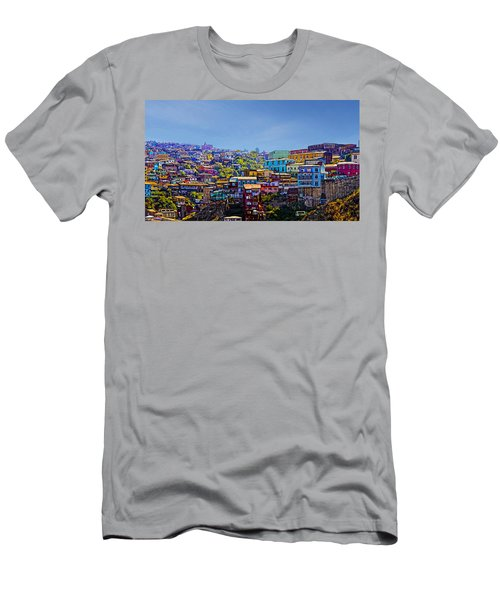 Cerro Artilleria Valparaiso Chile Men's T-Shirt (Athletic Fit)