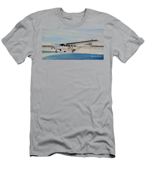 Men's T-Shirt (Slim Fit) featuring the painting Cessna 208 Caravan by Marilyn  McNish