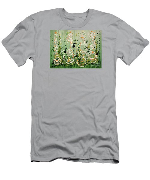 Men's T-Shirt (Slim Fit) featuring the painting Champagne Symphony by Holly Carmichael