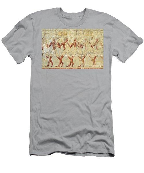 Chapel Of Hathor Hatshepsut Nubian Procession Soldiers - Digital Image -fine Art Print-ancient Egypt Men's T-Shirt (Athletic Fit)