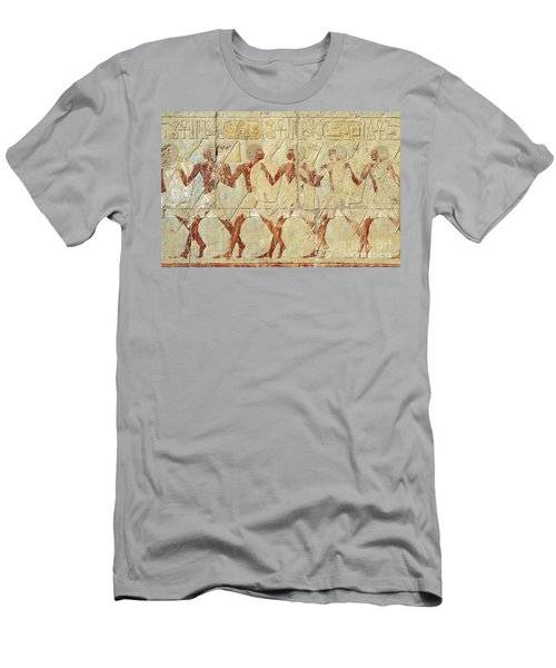 Chapel Of Hathor Hatshepsut Nubian Procession Soldiers - Digital Image -fine Art Print-ancient Egypt Men's T-Shirt (Athletic Fit)