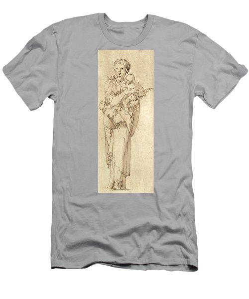 Charity Or The Virgin And Child Men's T-Shirt (Athletic Fit)