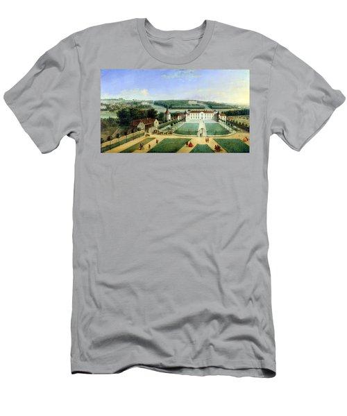 Chateau Of Charles Guillaume Le Normant, Seigneur Detoilles Oil On Copper Men's T-Shirt (Athletic Fit)