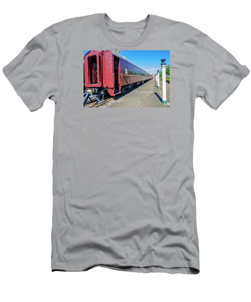 Men's T-Shirt (Slim Fit) featuring the photograph Chattanooga Choo Choo 1 by Susan  McMenamin