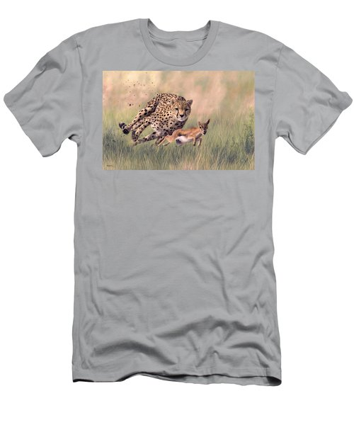 Cheetah And Gazelle Painting Men's T-Shirt (Athletic Fit)