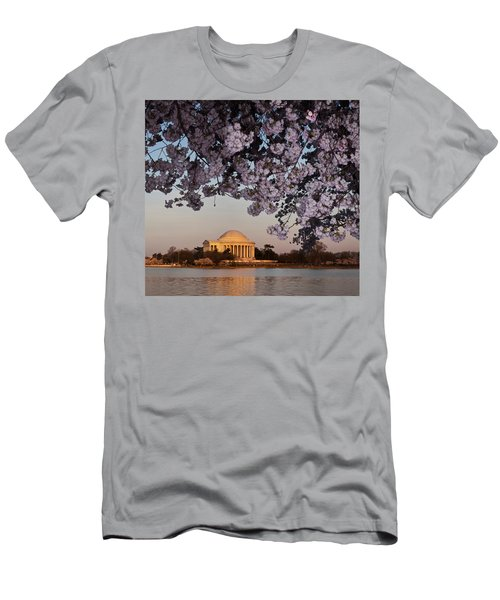 Cherry Blossom Tree With A Memorial Men's T-Shirt (Athletic Fit)
